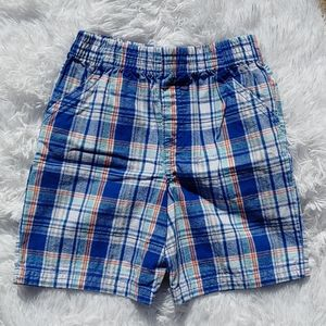 Kidgets Cotton Plaid Elastic Waist Shorts Size 4T